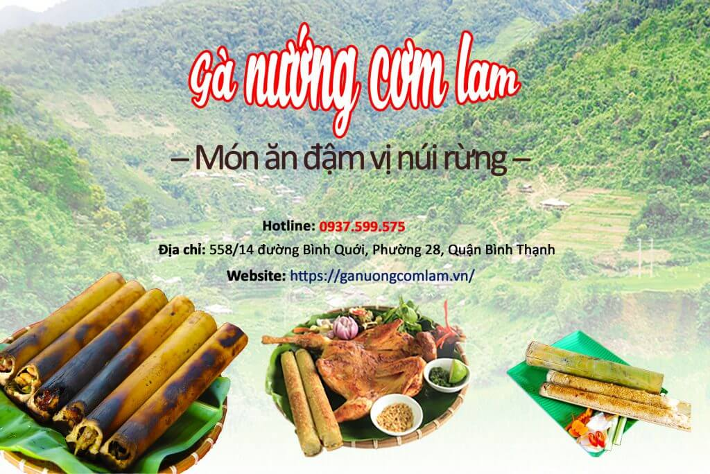 ga nuong com lam mon an mang huong vi nui rung